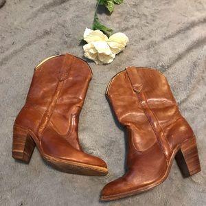 Frye shin-high cowboy booties